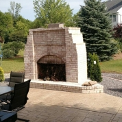 stone fireplace milwaukee, outdoor kitchen milwaukee, patio fireplace milwaukee, vortex restoration