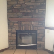 fix fireplace, update fireplace, stone fireplace, racine