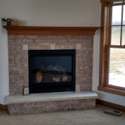 install new fireplace, fireplace mantle, milwaukee