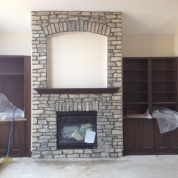 fireplace shelves, fix fireplace masonry, kenosha
