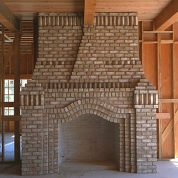brick fireplace, kenosha, racine