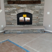 stone fireplace masonry, new fireplace, kenosha
