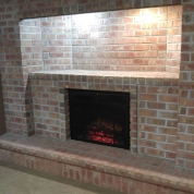 brick fireplace, replace fireplace