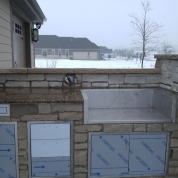 enclosed grill, outdoor stone grill, built-in grill, kenosha